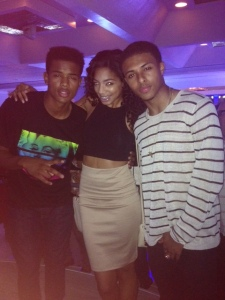 Trevor Jackson, Britt and Diggy Smmmons