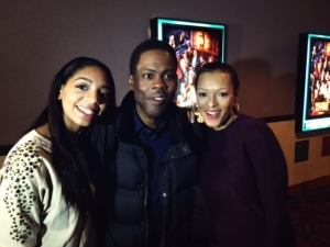Britt and Alfredas of The Russ Parr Morning Show with Chris Rock at the DC screening of TOP FIVE.